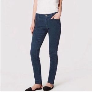 LOFT Modern Skinny Corduroy Ankle Jeans Navy 14 32